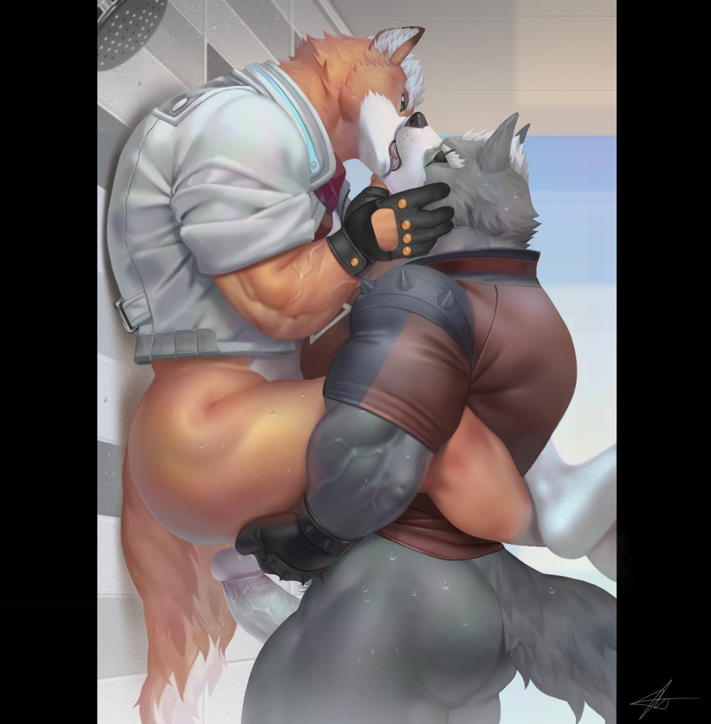 love wolf and fox in furries Foxy from five nights at freddys