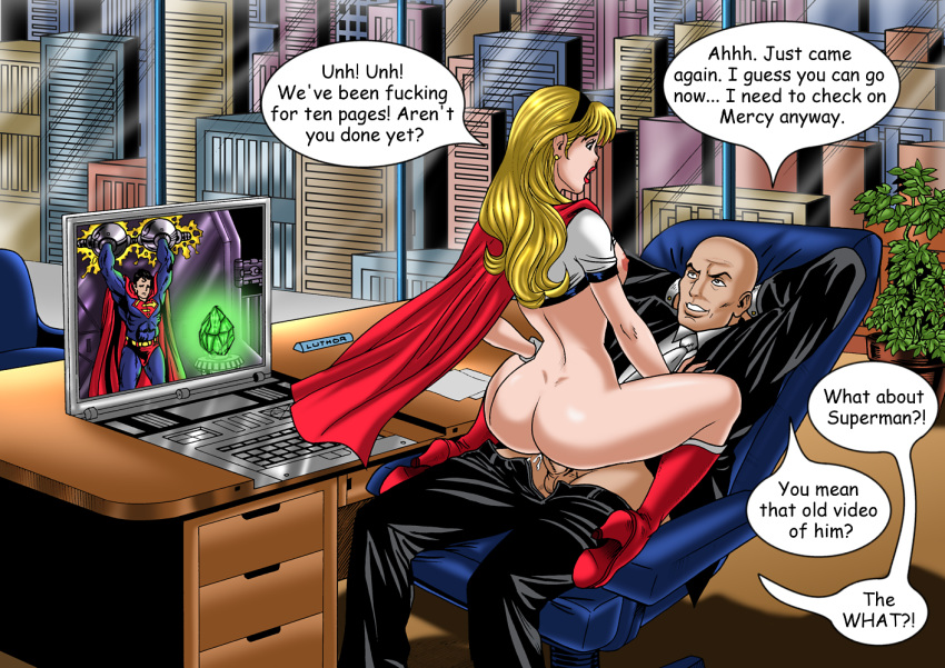 gang justice royal league flush Panty and stockings with garterbelt