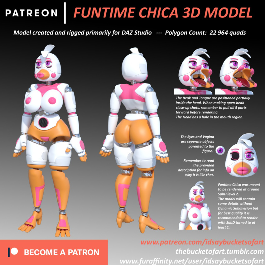 freddy's funtime five at nights chica Female frisk x female chara